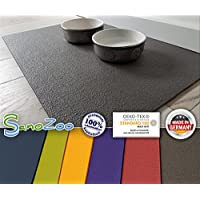 SanoSoft SanoZoo Napfunterlage - Öko Tex - Made in Germany 40 x 60 cm Grau