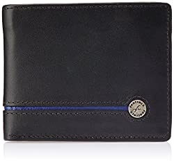 Fastrack Black and Blue Mens Wallet (C0368LBK01)