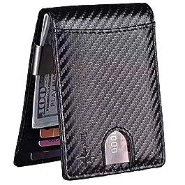 S-Zona WOMEN/'S Piccolo Compatto Vera Pelle Bi-Fold Pebble RFID Blocco Portafoglio