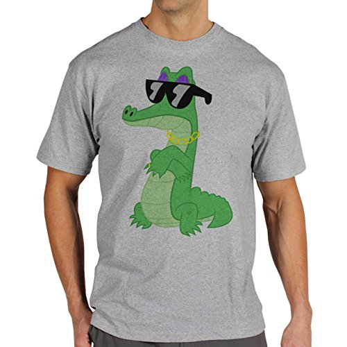 SWAG Crocodile Low Dude Herren T-Shirt Grau