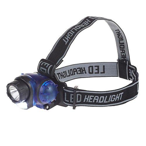 Flipco 3Watt Zoom Headlamp Camping Night Outdoor LED High Power Blue/Orange
