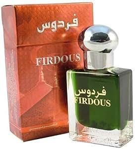 Essenza di fiori Firdous; profumo non alcolicho 15ml da uomo con legno di sandalo, muschio e mughetto.