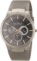 Reloj de caballero Skagen 809XLTTM de cuarzo (japonés), correa de titanio color gris de Skagen