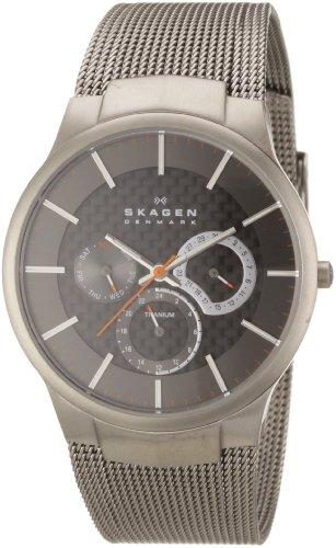 Skagen - 809XLTTM - Montre Homme - Quartz - Analogique - Bracelet Acier Inoxydable Gris