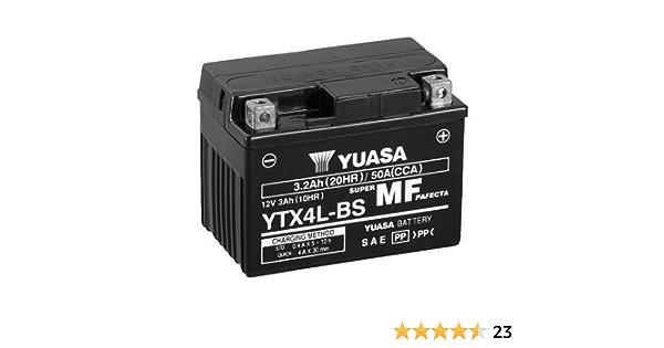 Batterie Yuasa Ytx4l Bs Wc Agm Geschlossen 12v 3ah Cca 50a 114x71x86mm Für Generic Trigger 50 X Baujahr 2011 Auto