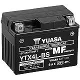 Batterie Yuasa Ytx4l Bs Wc Agm Geschlossen 12v 3ah Cca 50a 114x71x86mm Für Kymco Yup 50 Baujahr 2003 Auto