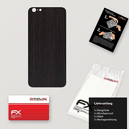 "Skin Apple iPhone 6 Plus ""FX-Carbon-Black"" Designfolie Sticker FX-Wood-Dark-Wenge"