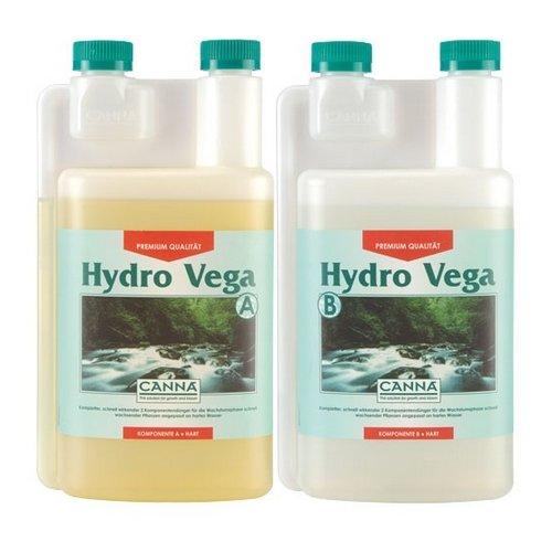 Fertilizzante per la Coltivo di Canna Hydro Vega Acqua Dura A+B (2x1L)