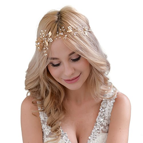 Haarnadeln Tiara Haarschmuck Brautschmuck Schmetterling Braut Hochzeit Diadem