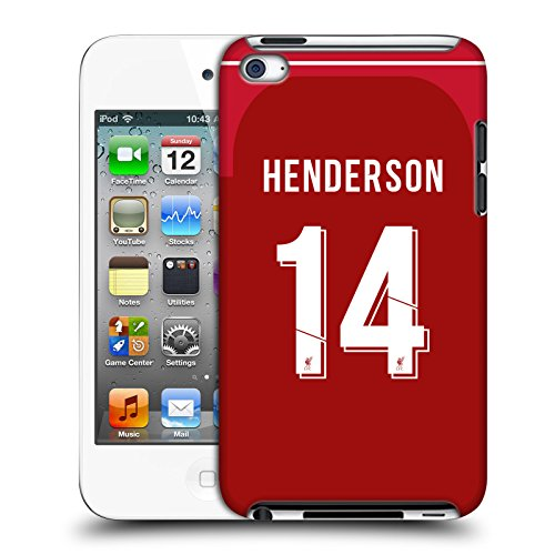 Offizielle Liverpool Football Club Jordan Henderson 2018/19 Spieler Home Kit Gruppe 1 Harte Rueckseiten Huelle kompatibel mit Apple iPod Touch 4G 4th Gen
