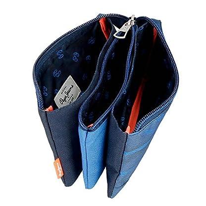 51F94OhIBoL. SS416  - Pepe Jeans Fabio Neceser de Viaje, 22 cm, 1.32 litros, Azul