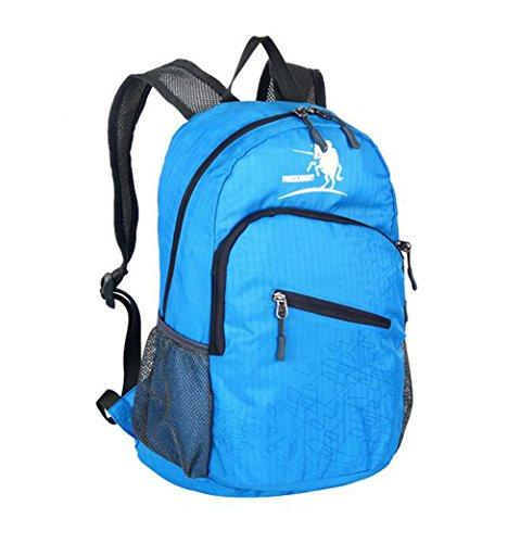 Wmshpeds Gli uomini e le donne di moda generale zaino casual 25L sacca pieghevole borsa da viaggio ultra-light in borsa B