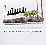 A-Fort Rack Holder Weinglasregal, Regal Weinglashalter, Weinglasregal, Weinglasregal, Champagnerglasregal, Glasregal (Farbe : A, größe : L100*w35cm)