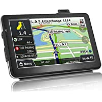 Car GPS Navigation 7 Inch Car Truck Lorry GPS Windows SAT NAV Satellite Navigation System 8 GB Touchscreen Navigator with HD SpeedCam POI MP3 Lifetime UK EU Maps (Upgraded Version)