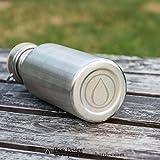 Trinkflasche, 0.5L Edelstahl / Wasserflasche mit Bambus Deckel, Eco Friendly von Pure Design - 3