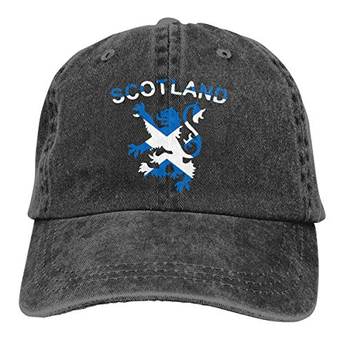 Cowboy-Hut Sonnenkappen Sport Hut Lion Rampant Scotland Scottish Men's Women's Adjustable Jeans Baseball Hat Yarn-Dyed Denim Sun Hat Sports Cool Youth Golf Ball Unisex hiking Cowboy hat hip hop Performance Womens Hut