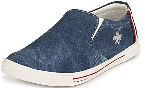 Anshul fashion Men Premium Blue Denim Casual Shoes Mesh Loafer and Moccassin
