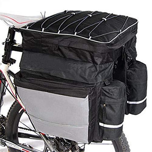 Danspeed Fahrrad-Gepäckträgertasche, 60 l wasserdichtes Polyester, für Mountainbike, Straßenrad, Satteltasche