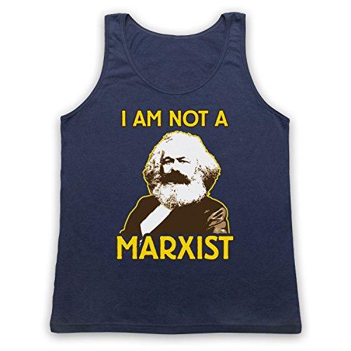 Karl Marx I Am Not A Marxist Tank-Top Weste Ultramarinblau