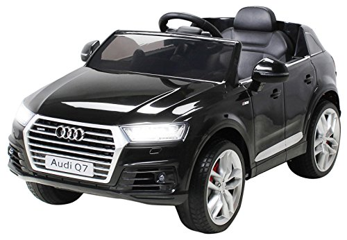 Actionbikes Motors Kinder Elektroauto Audi Q7 2017 Original Lizenz Kinderauto Kinderfahrzeug Elektro Auto Spielzeug Für Kinder (Schwarz)