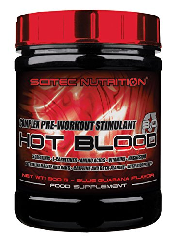 Scitec Nutrition Hot Blood 3.0 fórmula pre entrenamiento Blue gueraná 300 g