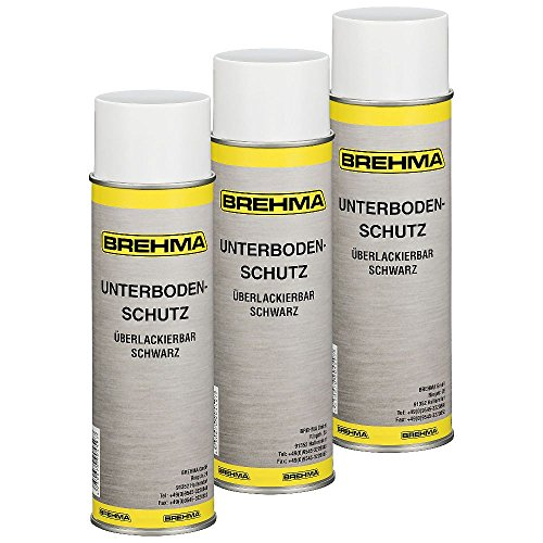 3x Unterbodenschutz Steinschlagschutz Spray schwarz 500ml überlackierbar