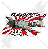 Mitsubishi ZERO Japanische Marine WWII Pearl Harbor, 95mm Auto & Motorrad Aufkleber, Vinyl Sticker