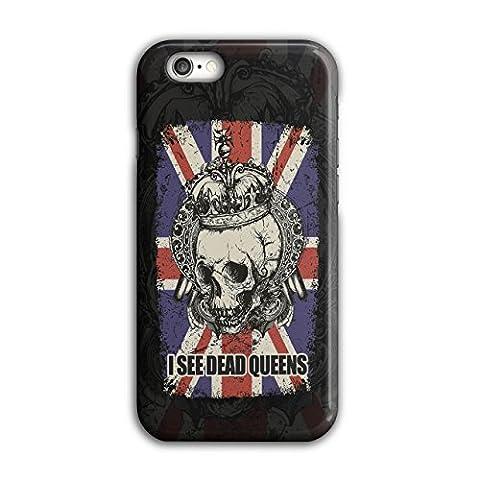 Schädel Tot Königin Metall Vereinigtes Königreich Skelett Vereinigtes Königreich iPhone 6 / 6S Hülle | Wellcoda