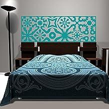 Cabecero acolchado Pared Vinilo Adhesivo Arte de Pared adhesivo decoración de la cama (Reina, color azul) por mairgwall