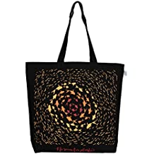 """EcoRight Reusable 100% Canvas Cotton EcoFriendly Large Tote Bag Printed""""No Room for Plastic"""""""
