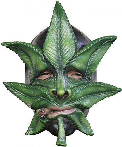 Generique - Kanabis Blatt Maske für Erwachsene (Kiffer Kostüm)