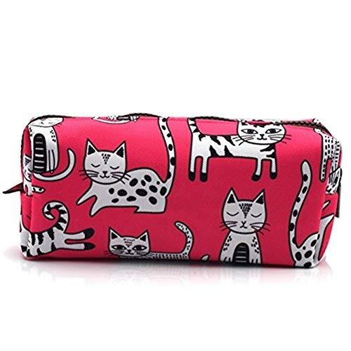 Estuche para lápices de gato rosa