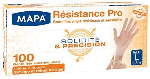 Mapa Gants de Ménage Résistance Pro Boîte de 100 Gants Taille 8/L
