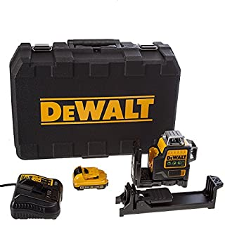 Dewalt DCE089D1G-GB 10.8V Self Levelling Multi Line Laser (Green) (1 x 2.0Ah Li-Ion), Black/Yellow