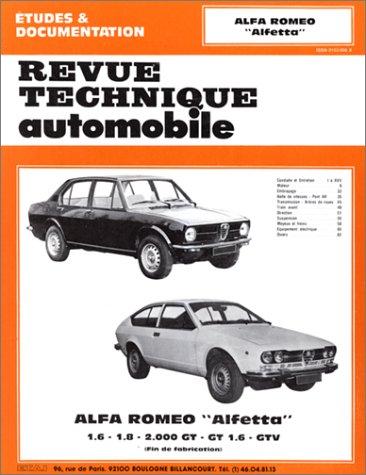 Revue Technique Automobile, CIP 36B : Alfa Roméo Alfetta