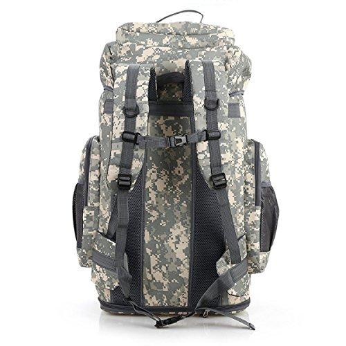 Tarnung Im Freien Rucksack Klettern Tasche 80L Erweitern 100L Groß Kapazität Junglecamouflage