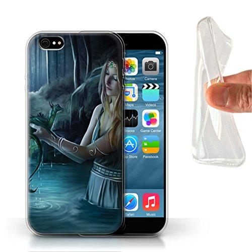 Officiel Elena Dudina Coque / Etui Gel TPU pour Apple iPhone 6S / Robe Feu Design / Dragon Reptile Collection Eau/Bébé