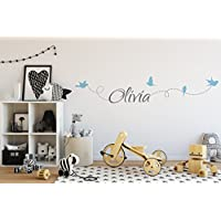 Name Wall Stickers - Personalised Name Wall Stickers for girls boys kids