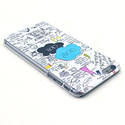 TIODIO® 4 en 1 Etuis Case Protecteur Hard Arrière Housse Coque Etui Case Cover pour Apple iphone 6S Plus /iPhone 6 Plus housse étui case cover, Stylus et Film protecteur inclus, B06 B24