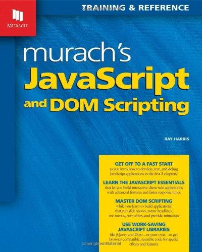 PDF Murach's JavaScript and DOM Scripting (Murach: Training