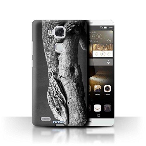 Stuff4® Hülle/Hülle für Huawei Ascend Mate7 / Eidechse Muster/Zoo-Tiere Kollektion