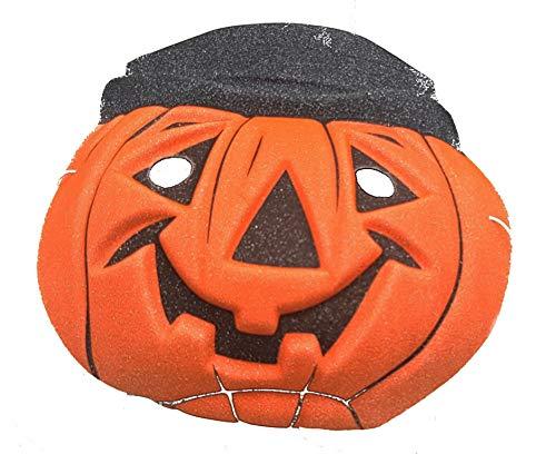 Maschera zucca con cappello bambino halloween