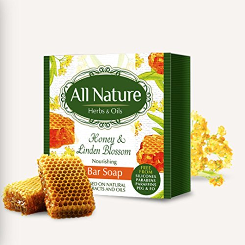 All Nature Nourishing Honey & Linden Bar Soap Natural Product - 100g