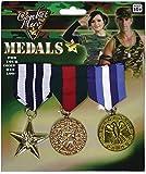 Soldado del Ejército Fuerzas Armadas Fancy Party Guerra Combat Hero 3piezas Medalla Militar