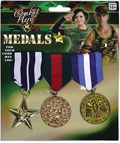 Armée Soldat des Forces armées Fancy Party Combat Guerre Médaille Militaire Hero 3pièces