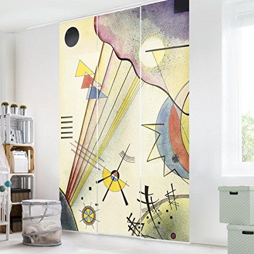 Bilderwelten Schiebegardinen Set - Wassily Kandinsky - Deutliche Verbindung - 3 Flächenvorhänge,...