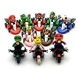 Nintendo Super Mario Bros Kart Wii Pull Back Bike Abbildung Satz von 10 Mit sanlise