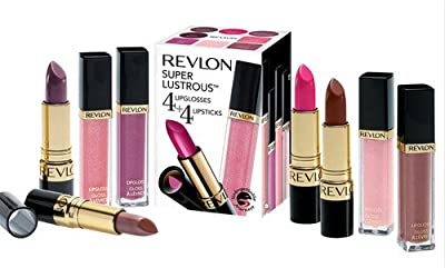 Revlon 4 Lipstick And 4 Lip Gloss Set In Red Pink Nude Rose Shades