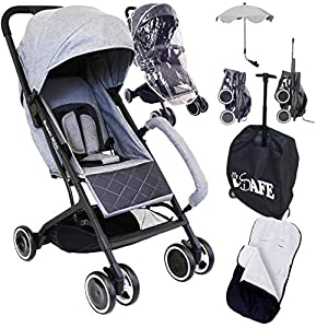 iSafe Super Mini Stroller - Grey (Super Small & Lightweight Bundle Package)   6