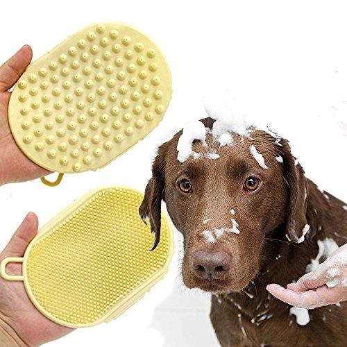 Doppelseitige Hund Bad Pinsel,Beste Pet Baden Werkzeug Für Hunde und Katzen,Unsere Borsten Sind...